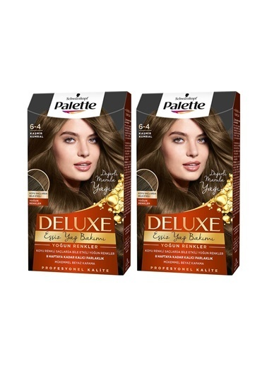 Palette Palette Deluxe Yoğun Renkler 6-4 Kaşmir Kumralx 2 Paket Renkli